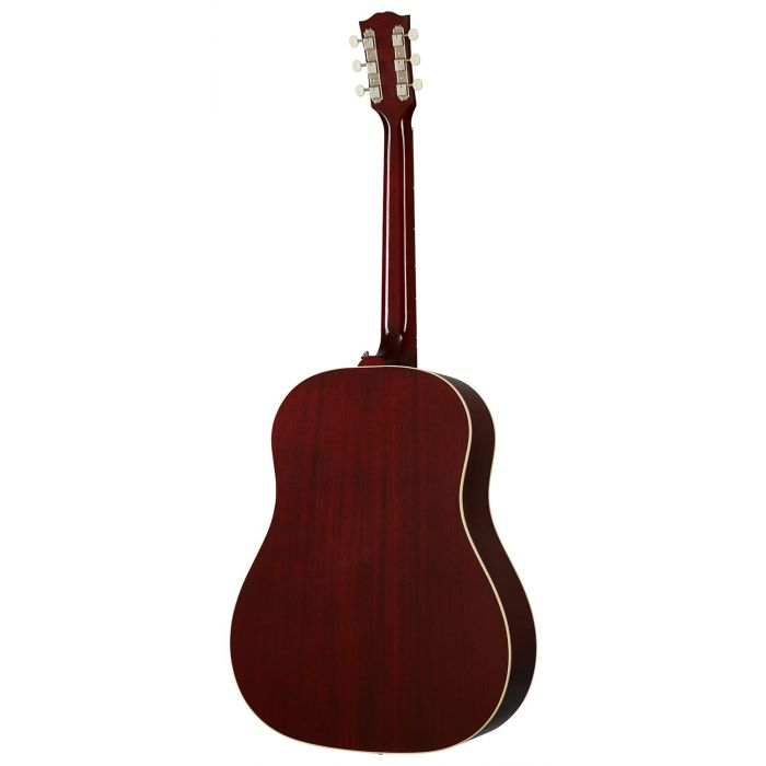 Full rear view of a Gibson 60s J-45 Original Wine Red Acoustic Guitar