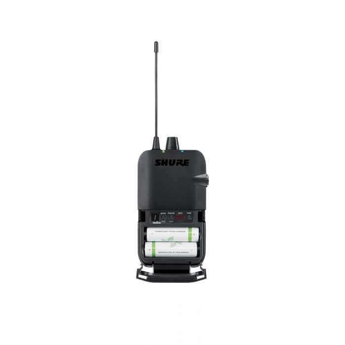 BAck View of Shure P3R Wireless IEM Bodypack Receiver