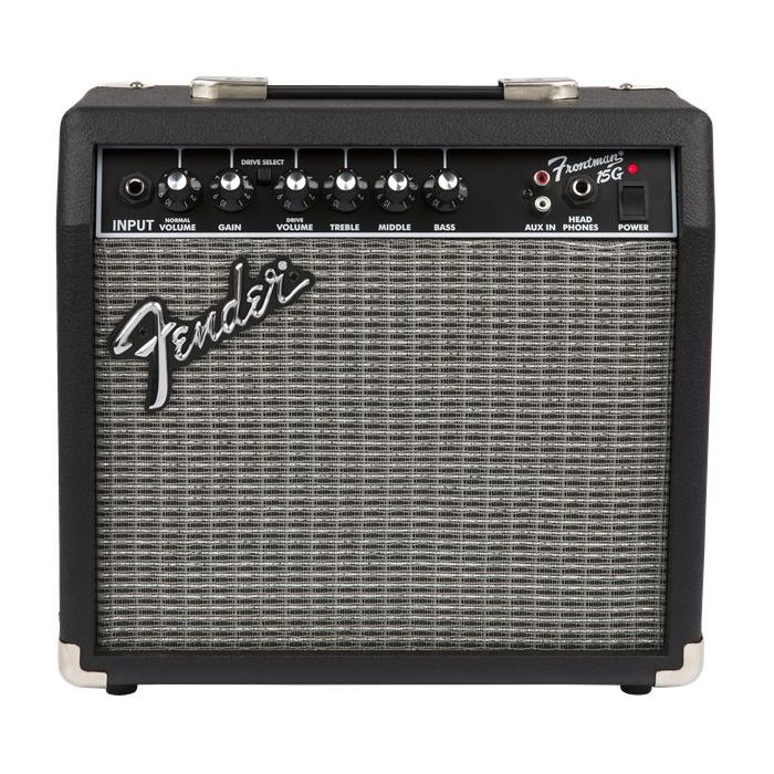 Front view of a Fender Frontman 15g amplifier