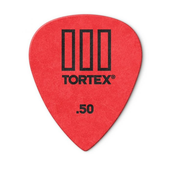 Main view of the Dunlop Tortex III .50mm Pick