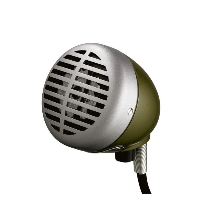 Shure 520DX Green Bullet Dynamic Microphone Front Side View