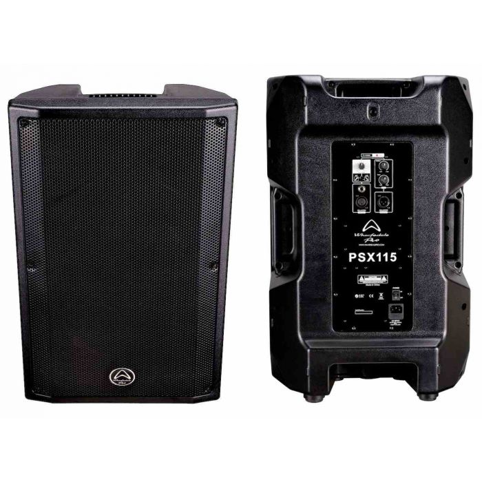 Front and Back of Wharfedale Pro PSX115 Active Loudspeakers