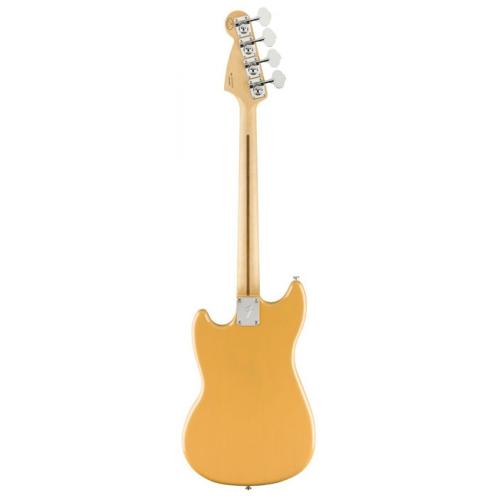 Full rear view of a Fender Ltd Edition Player Mustang Bass, Butterscotch Blonde