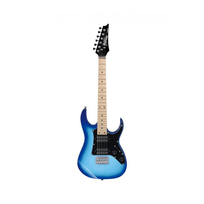 Overview of the Ibanez GRGM21M Electric Guitar in Blue Burst