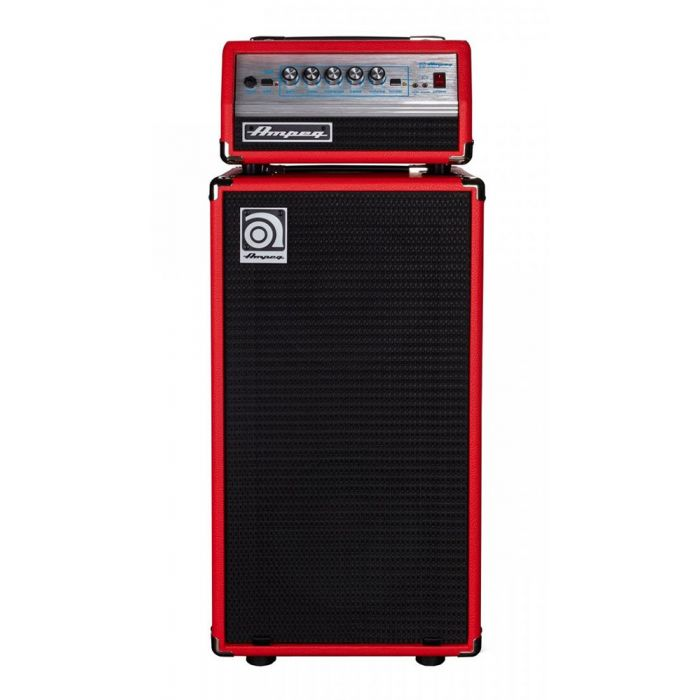 Full frontal view of an Ampeg Classic Micro-VR Stack Limited Edition, Red
