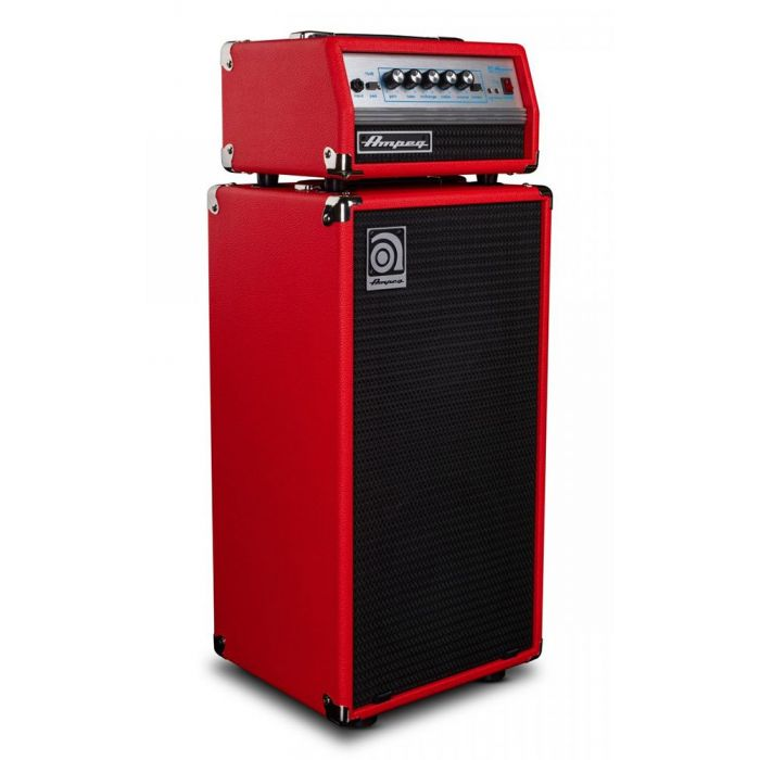 Front right-angled view of an Ampeg Classic Micro-VR Stack Limited Edition, Red