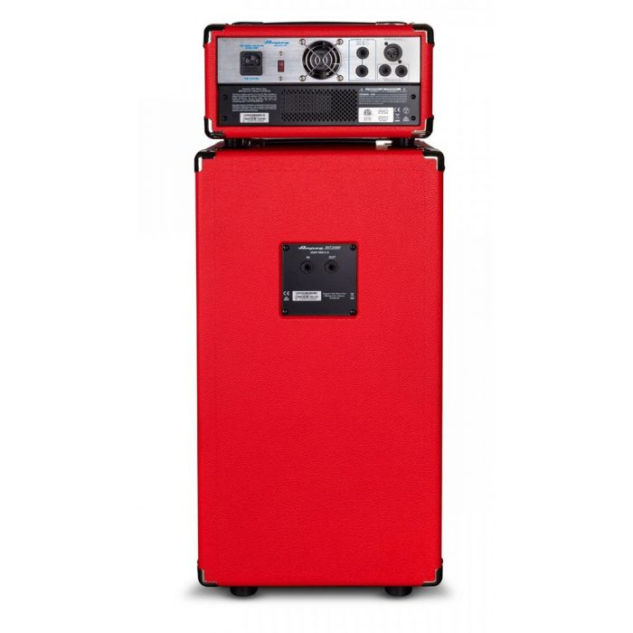 Full rear vie wof an Ampeg Classic Micro-VR Stack Limited Edition, Red