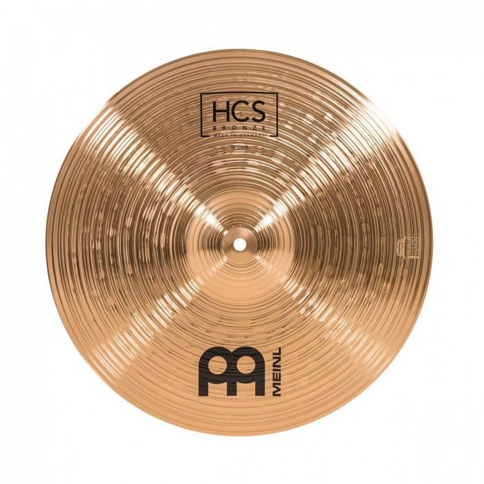View of the 16 inch Crash Cymbal in the Meinl HCS Bronze Cymbal Pack With Gig Bag