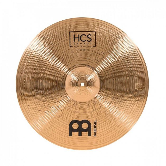 View of the 20 inch Crash Cymbal in the Meinl HCS Bronze Cymbal Pack With Gig Bag
