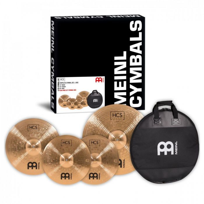 Overview of the Meinl HCS Bronze Cymbal Pack With Gig Bag
