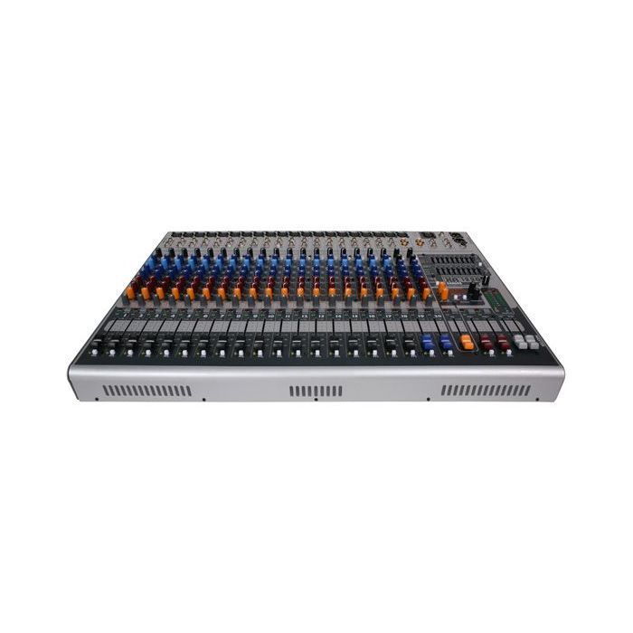 Angled view of the Peavey XR1220 Powered Console Mixer