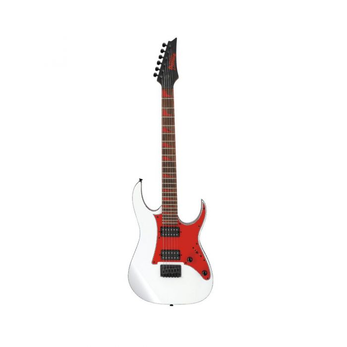 Overview of the Ibanez GRG131DX Electric Guitar in White