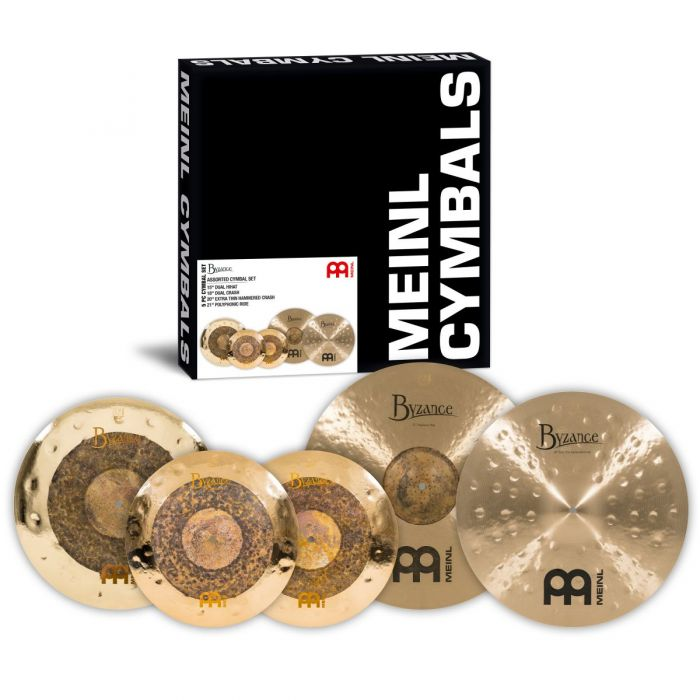 Overview of the Meinl Byzance Assorted Cymbal Set