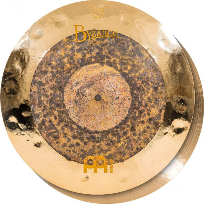 View of the Meinl Byzance 15 Inch Hi Hat