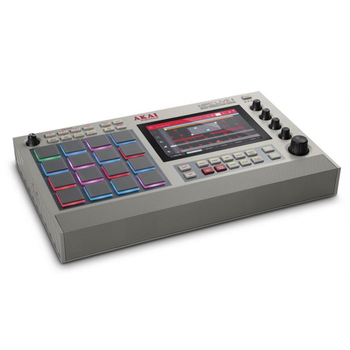 Angled View of Akai Professional MPC Live II Special Retro Edition