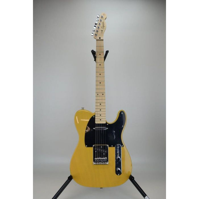 Full frontal view of a B-Stock Squier Affinity Series Telecaster MN, Butterscotch Blonde
