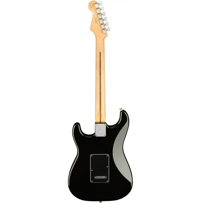 Back view of the Fender Ltd Edition Player Stratocaster MN Black