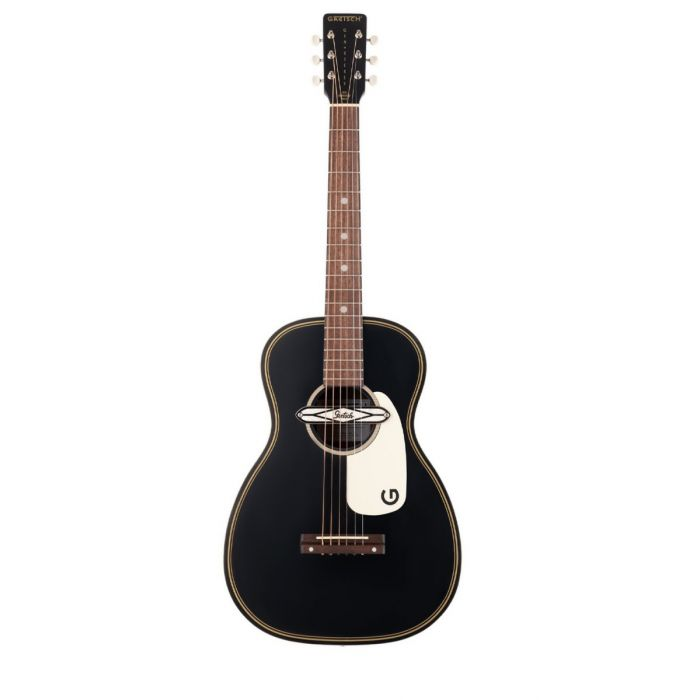 Overview of the Gretsch G9520E Gin Rickey Electro-Acoustic in Smokestack Black