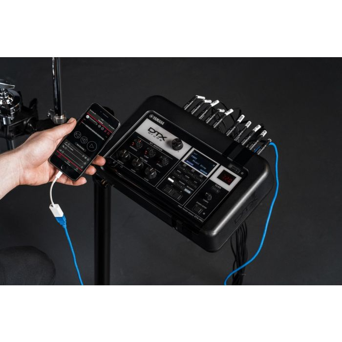 DTX-PRO Drum Trigger Module Being Used with Rec n Share App
