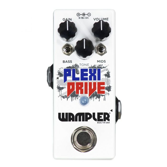 Top-down view of a Wampler Plexi Drive Mini Overdrive Pedal