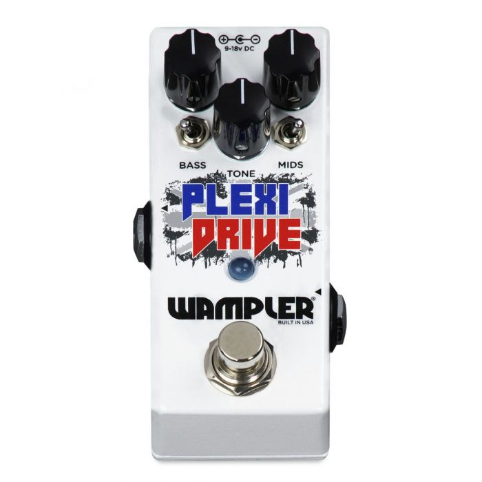 Front view of a Wampler Plexi Drive Mini Overdrive Pedal