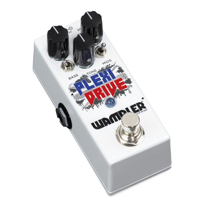Right-angled view of a Wampler Plexi Drive Mini Overdrive Pedal