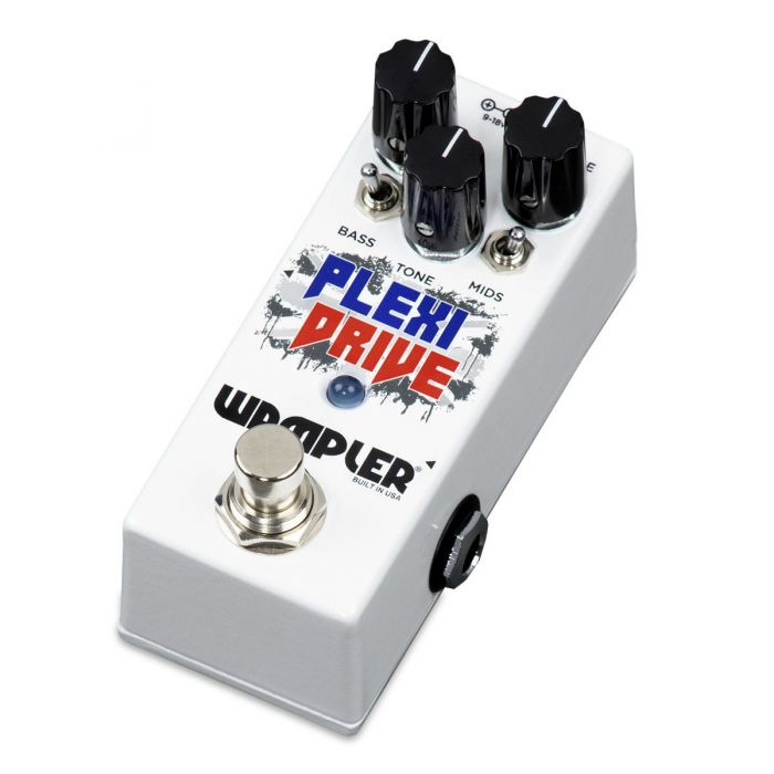 Left-angled view of a Wampler Plexi Drive Mini Overdrive Pedal