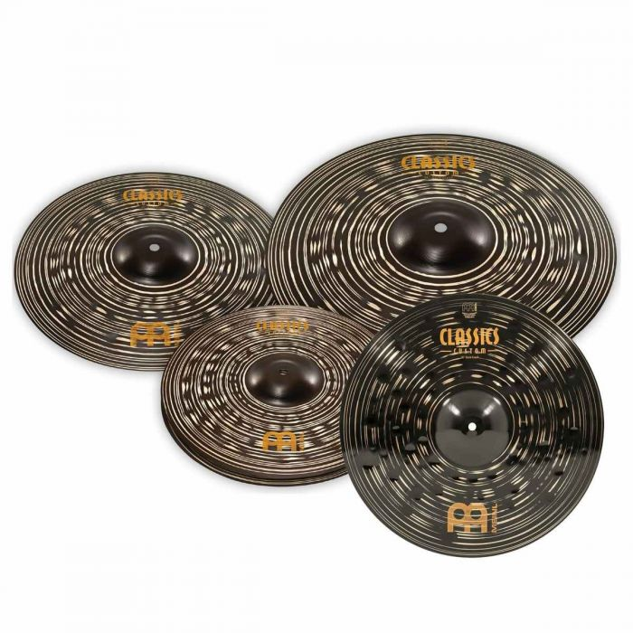 Overview of the Meinl Classics Custom Dark Effects Cymbal Set