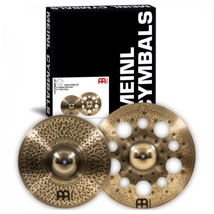 Overview of the Meinl Pure Alloy Custom Crash Cymbal Set