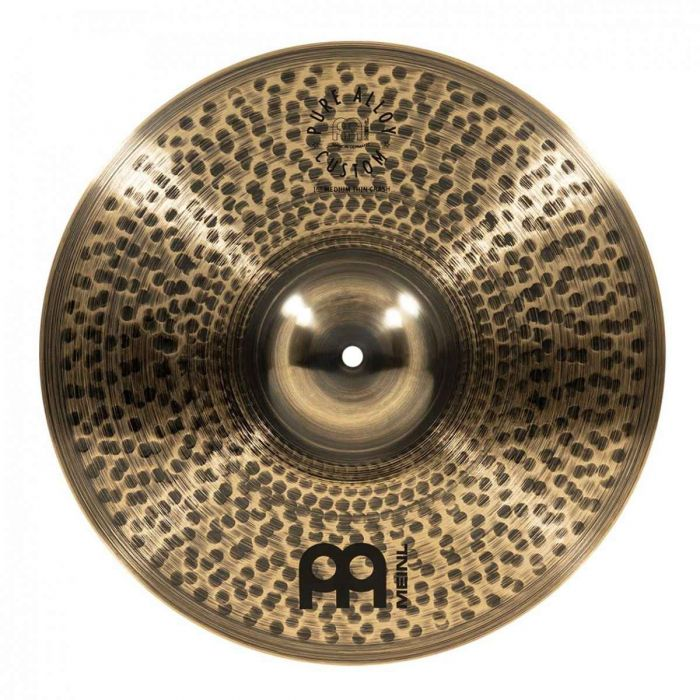 View of the 16 inch crash in the Meinl Pure Alloy Custom Crash Cymbal Set