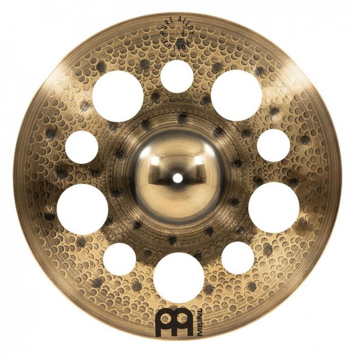 View of the 18 inch Trash Crash in the Meinl Pure Alloy Custom Crash Cymbal Set