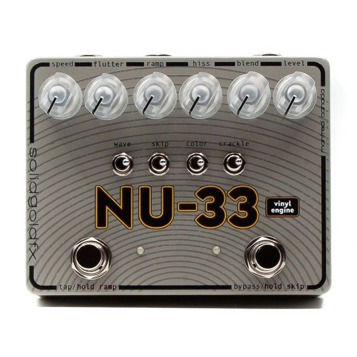 Top-down view of a SolidGoldFX NU-33 Vinyl Engine Chorus and Vibrato Pedal