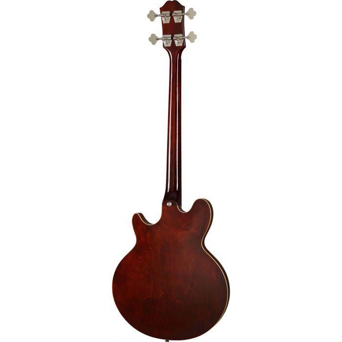 Rear view of an Epiphone Original Jack Casady Bass Faded Pelham Blue