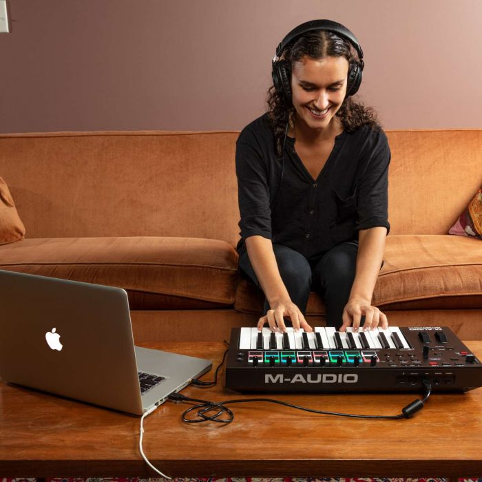 M-Audio Oxygen Pro 25 USB MIDI Controller Being Played