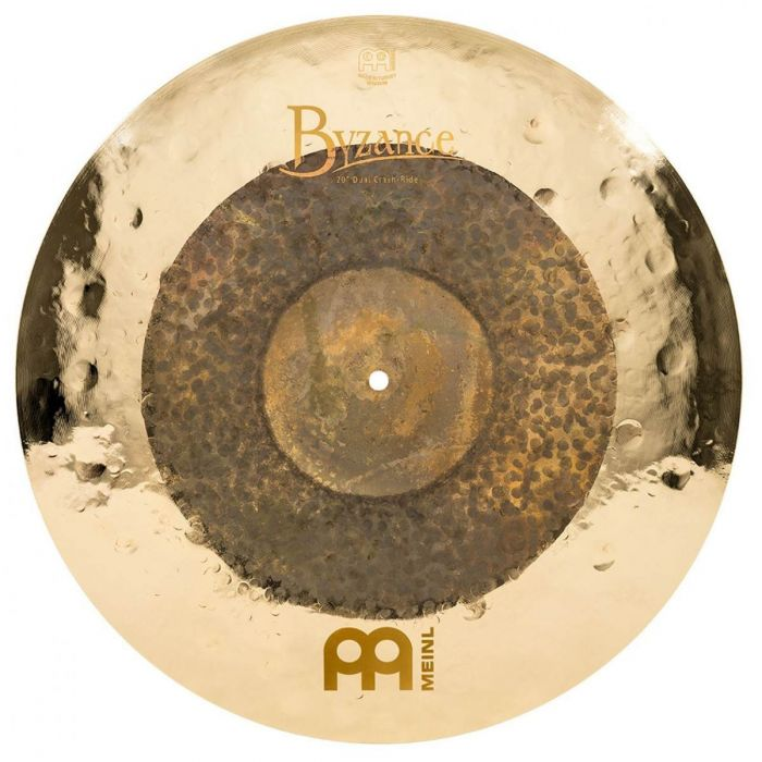 View of the 20 Inch Crash Ride ijn the Meinl Byzance Dual Complete Cymbal Set