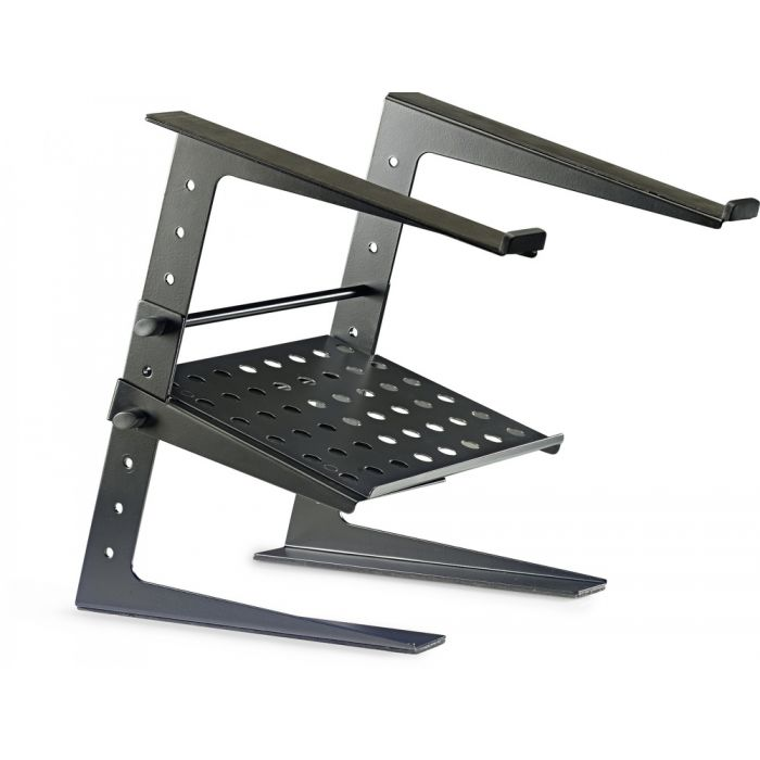 Expanded overview of the Stagg DJS-LT20 Professional DJ Desktop Stand with Lower Support Plate