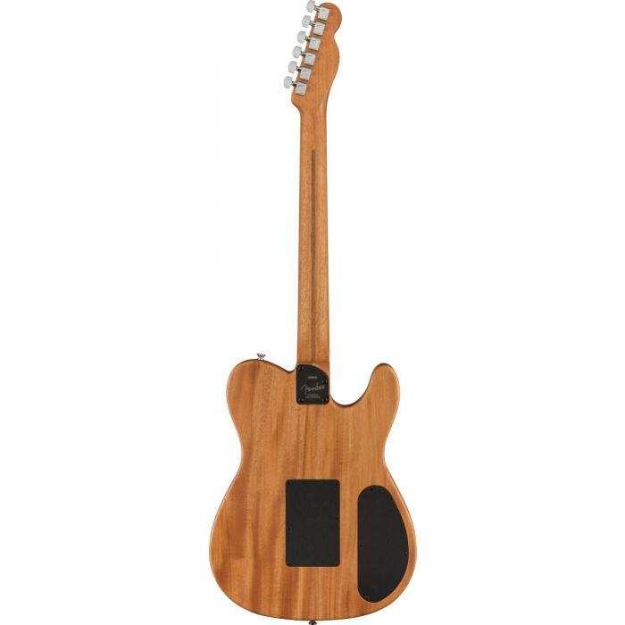 Back of Fender Acoustasonic Telecaster Left Handed Natural