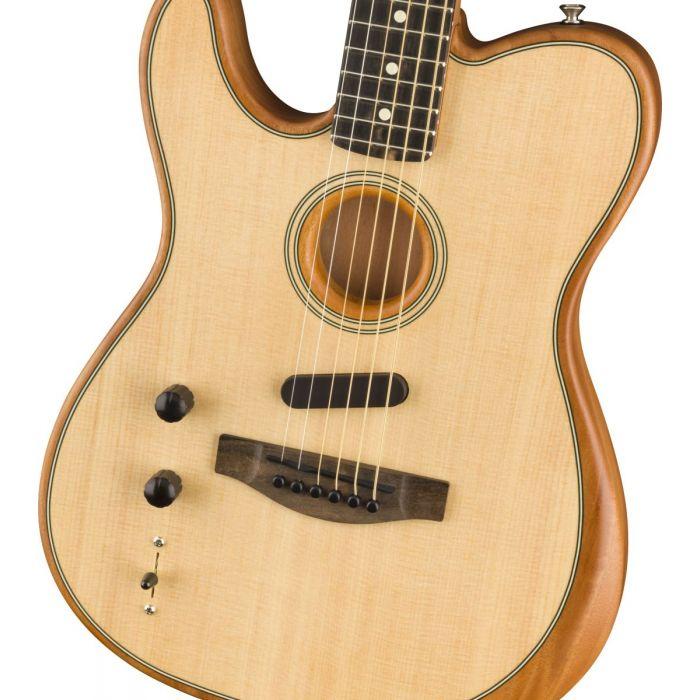 Fender Acoustasonic Telecaster Left Handed Natural Body