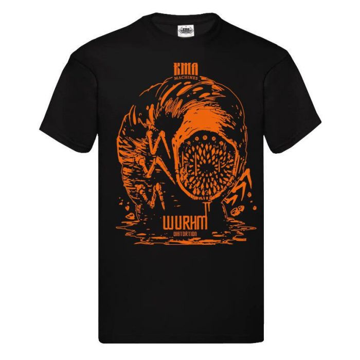 Free T-shirt claimable with the KMA Machines Limited Edition Wurhm Distortion Pedal