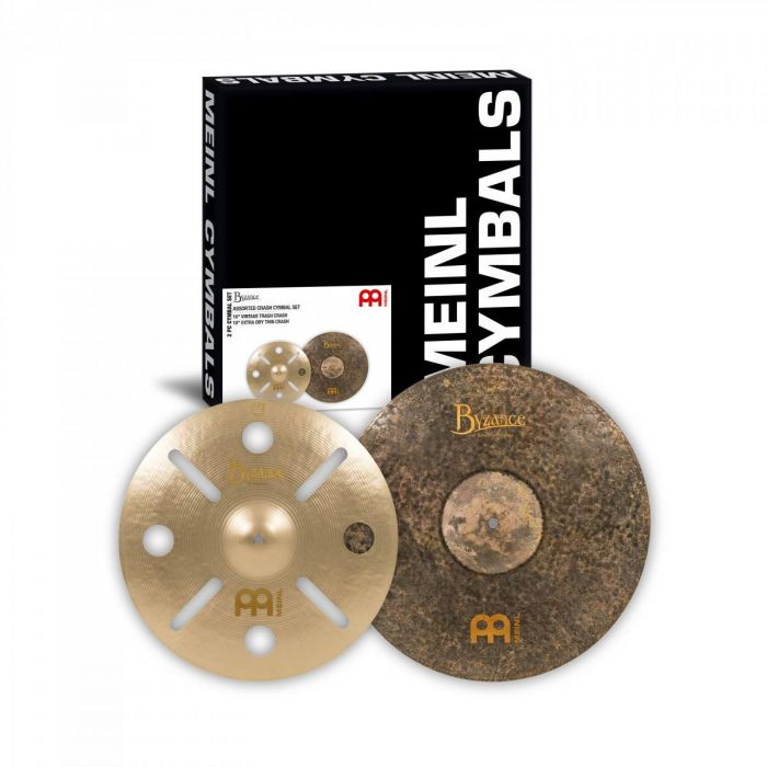 Overview of the Meinl Byzance Assorted Crash Cymbal Set