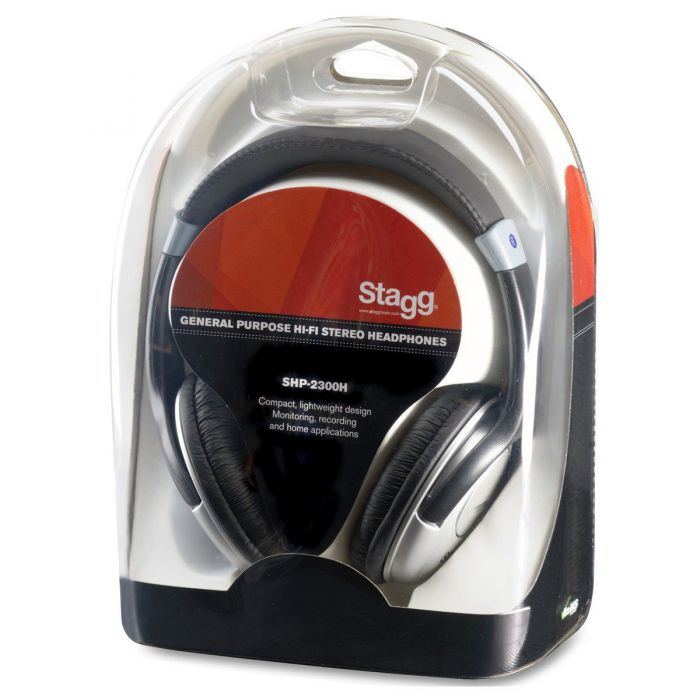 Packet view of the Stagg SHP-2300H General Purpose HiFi Stereo Headphones