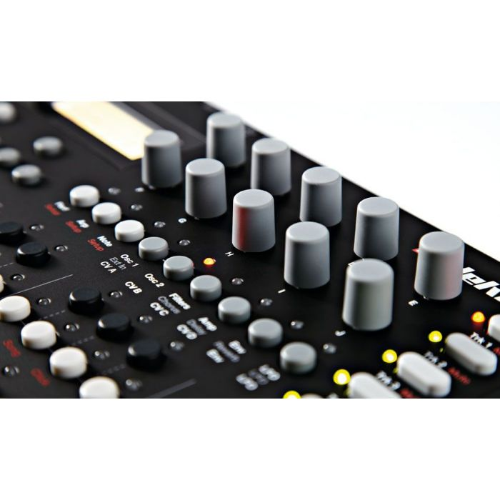 Close up of the Elektron Analog Four 4 Part Synthesiser MK1