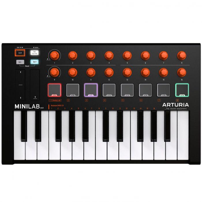 Arturia MiniLab MkII Black and Orange Edition USB MIDI Keyboard
