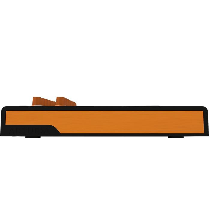 Side View of Arturia MiniLab MkII Black and Orange Edition USB MIDI Keyboard