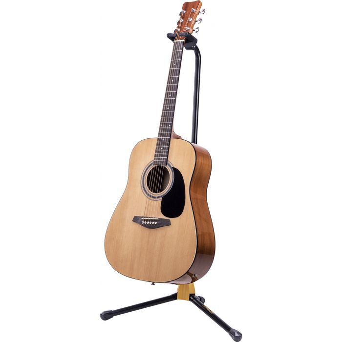 Hercules GS412B PLUS AGS Single Guitar Stand Front With Acoustic