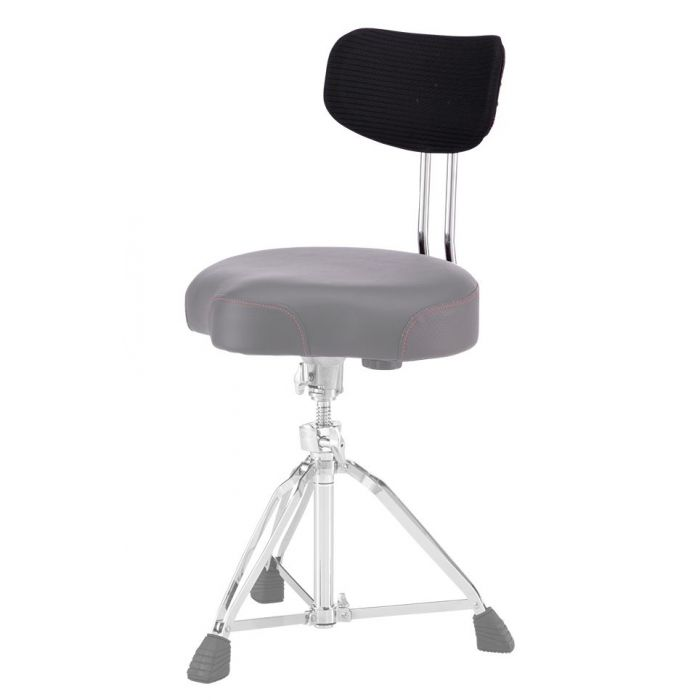 Pearl Roadster Optional Backrest affixed to a stool, from a distance