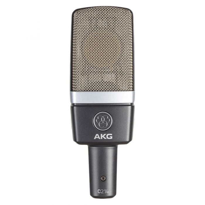 AKG C214 Large Diaphragm Condenser Microphone Stereo Pair Front