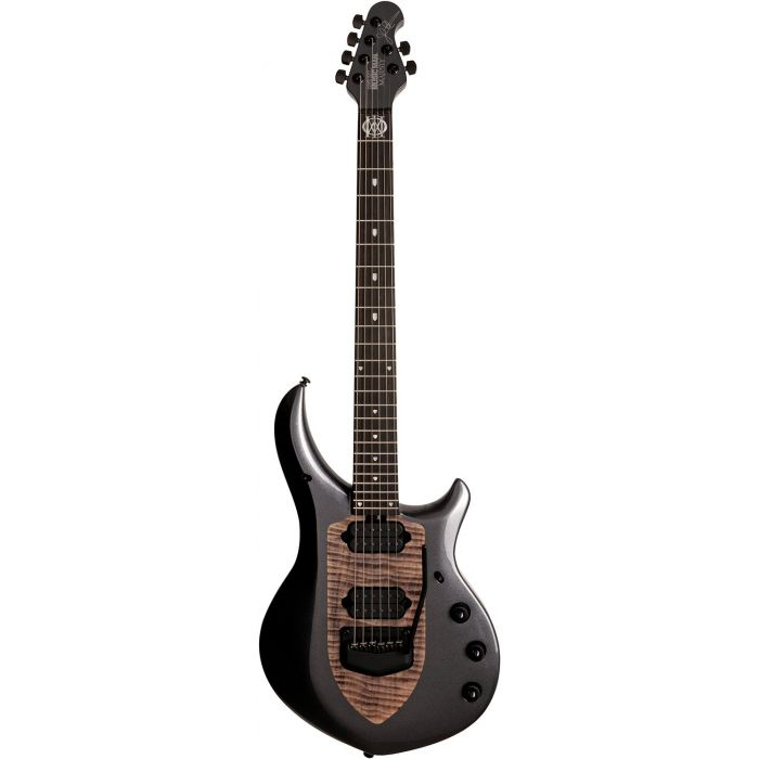 Full frontal view of a Music Man Majesty Electric Guitar, Smoked Pearl