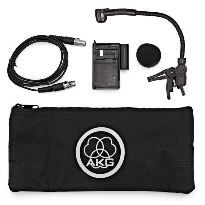 AKG C519 ML Mini Clip On Condenser Mic Contents