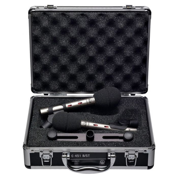 AKG C451 B Small Diaphragm Condenser Microphone Matched Pair Case